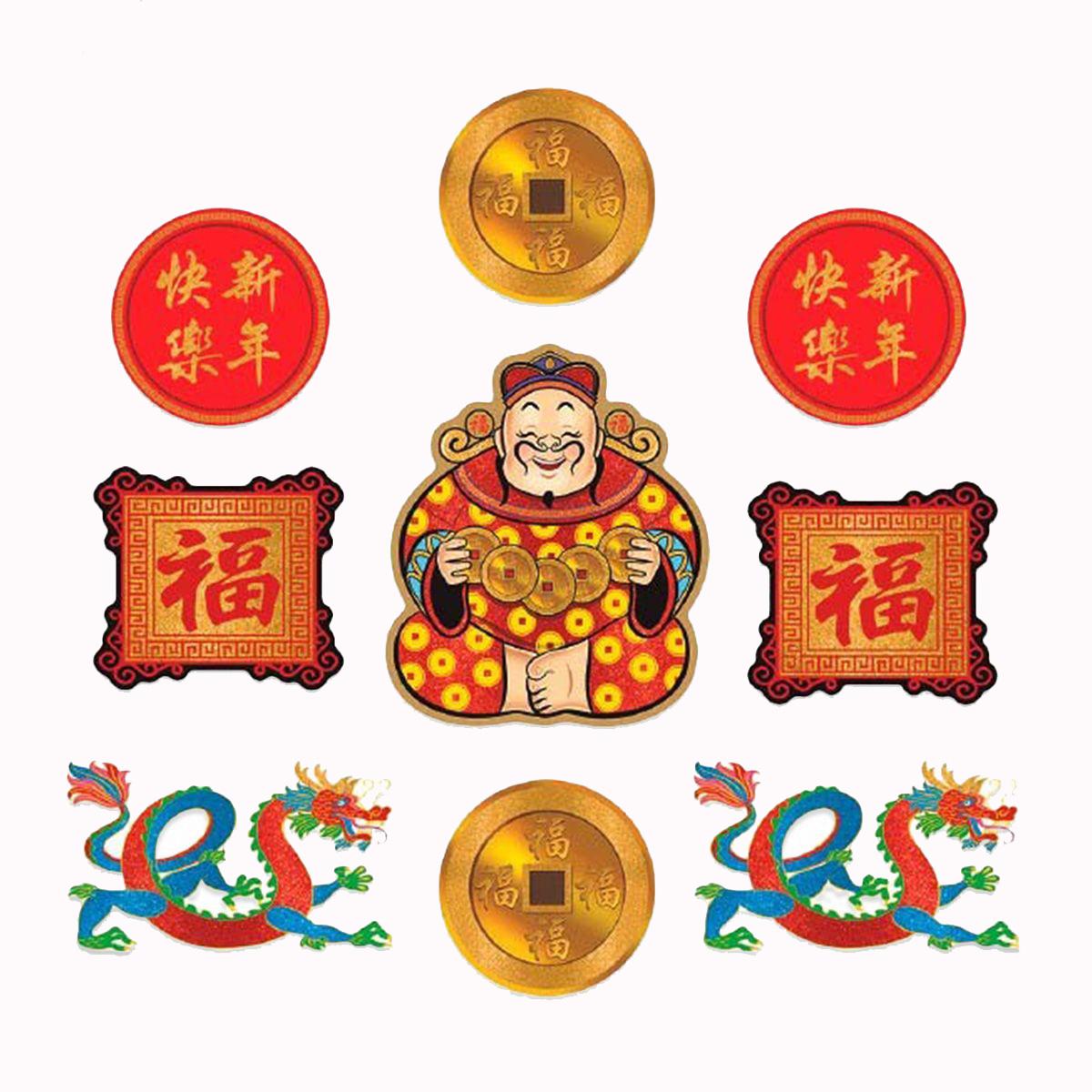 Chinese_New_Year_Cutouts_Chinese New Year Cutouts Glittered