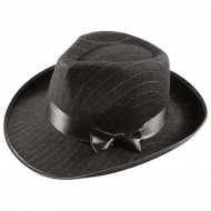 PIN STRIPE GANGSTER HAT
