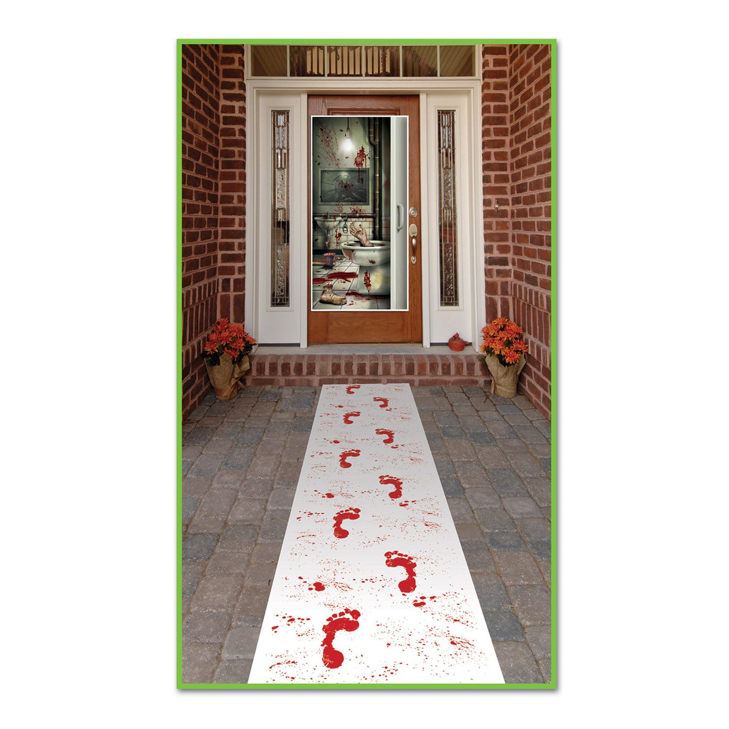 BLOODY FOOTPRINTS FLOOR RUNNER