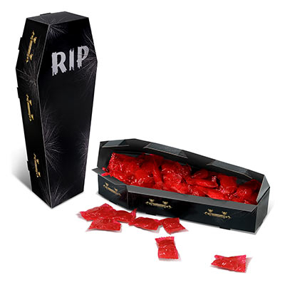 HALLOWEEN BLACK COFFIN TABLE CENTREPIECE/PARTY FAVOUR BOX