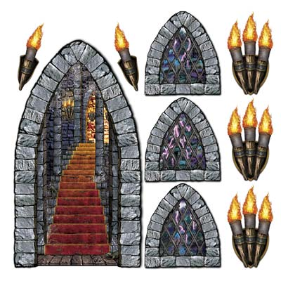 SCENE SETTER - MEDIEVAL WINDOWS & TORCHES