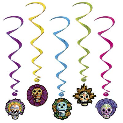 DAY OF THE DEAD WHIRLS - PACK OF 5