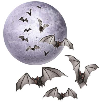 MOON AND BAT CUT OUTS - PACK OF 4