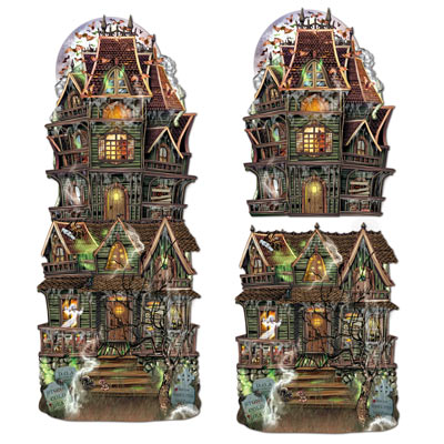 HAUNTED HOUSE JUMBO CUT OUTS - PACK OF 2