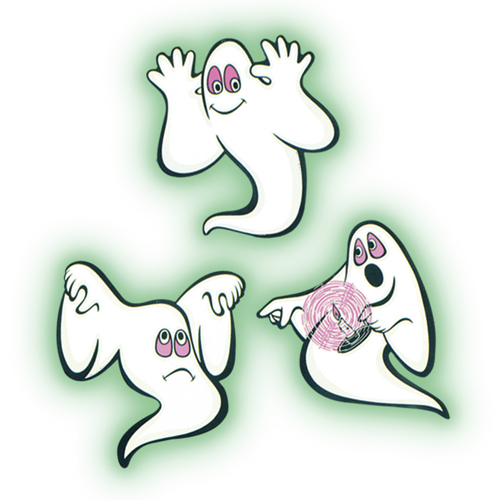 GLOW GHOST CUT OUTS - PACK OF 3