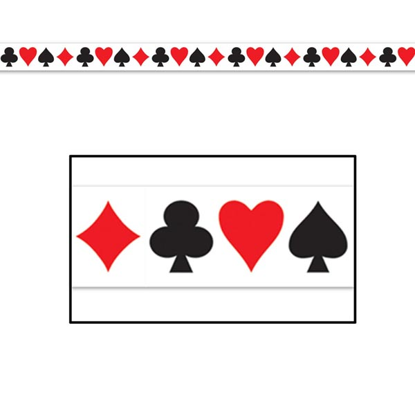 CASINO CARD SUIT TAPE