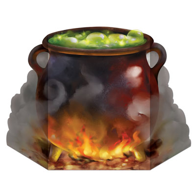 WITCH'S CAULDRON STAND UP PHOTO PROP