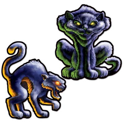 BLACK CAT CUT OUTS - PACK OF 2