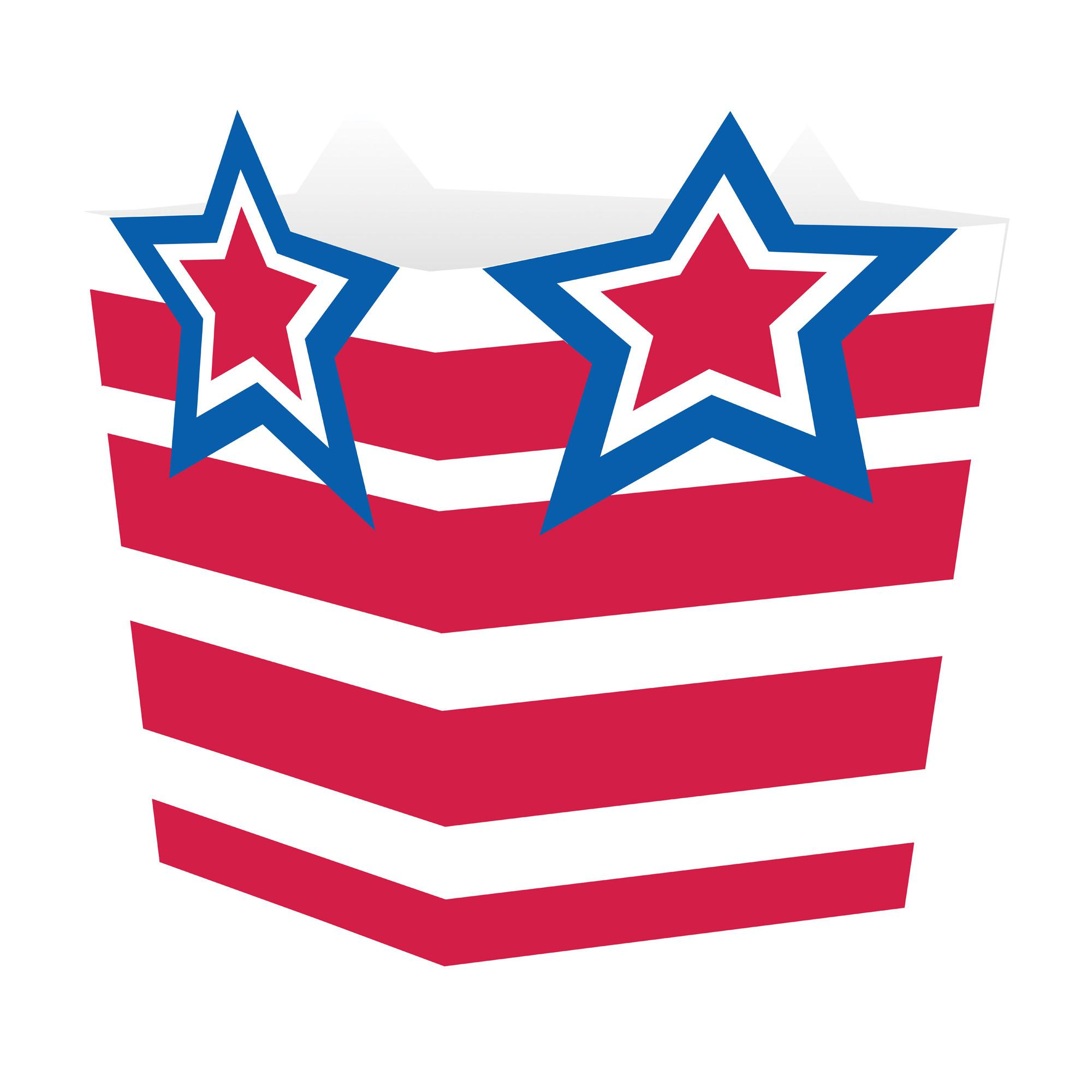 AMERICAN THEMED DIE-CUT TREAT BOXES - PACK OF 4