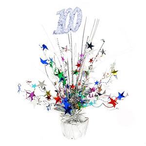 100TH BIRTHDAY WEIGHTED CENTREPIECE