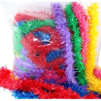 LEIS- BULK PLASTIC FRINGED PACK OF 50 MIXED COLOURS