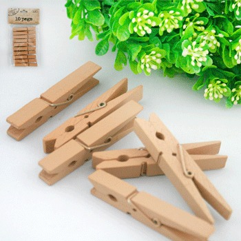 NATURAL KRAFT PEGS - PACK OF 10