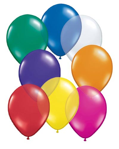 BALLOONS LATEX - JEWEL TONE ASSORTMENT PROFESSIONAL PK 100