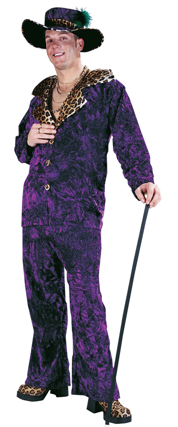 PIMP DADDY PURPLE COSTUME - ONE SIZE FITS MOST