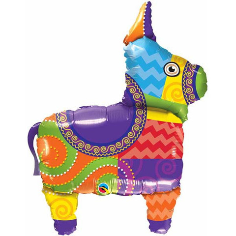 FOIL SUPER SHAPE BALLOON - PINATA BURRO