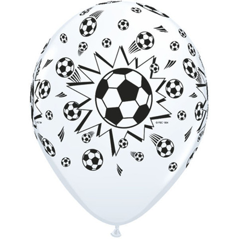 BALLOONS LATEX - SOCCER PACK OF 6