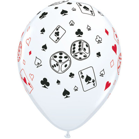 BALLOONS LATEX - CARDS & DICE PACK 6