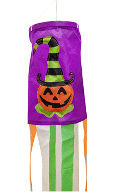 HALLOWEEN WIND SOCK - SMILING PUMPKIN FACE 120CM