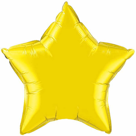 FOIL BALLOON STAR SHAPE - CITRINE YELLOW