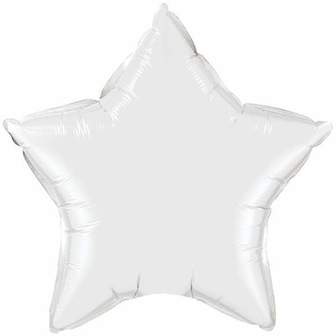 FOIL BALLOON STAR SHAPE - WHITE