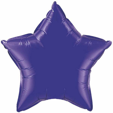 FOIL BALLOON STAR SHAPE - QUARTZ PURPLE