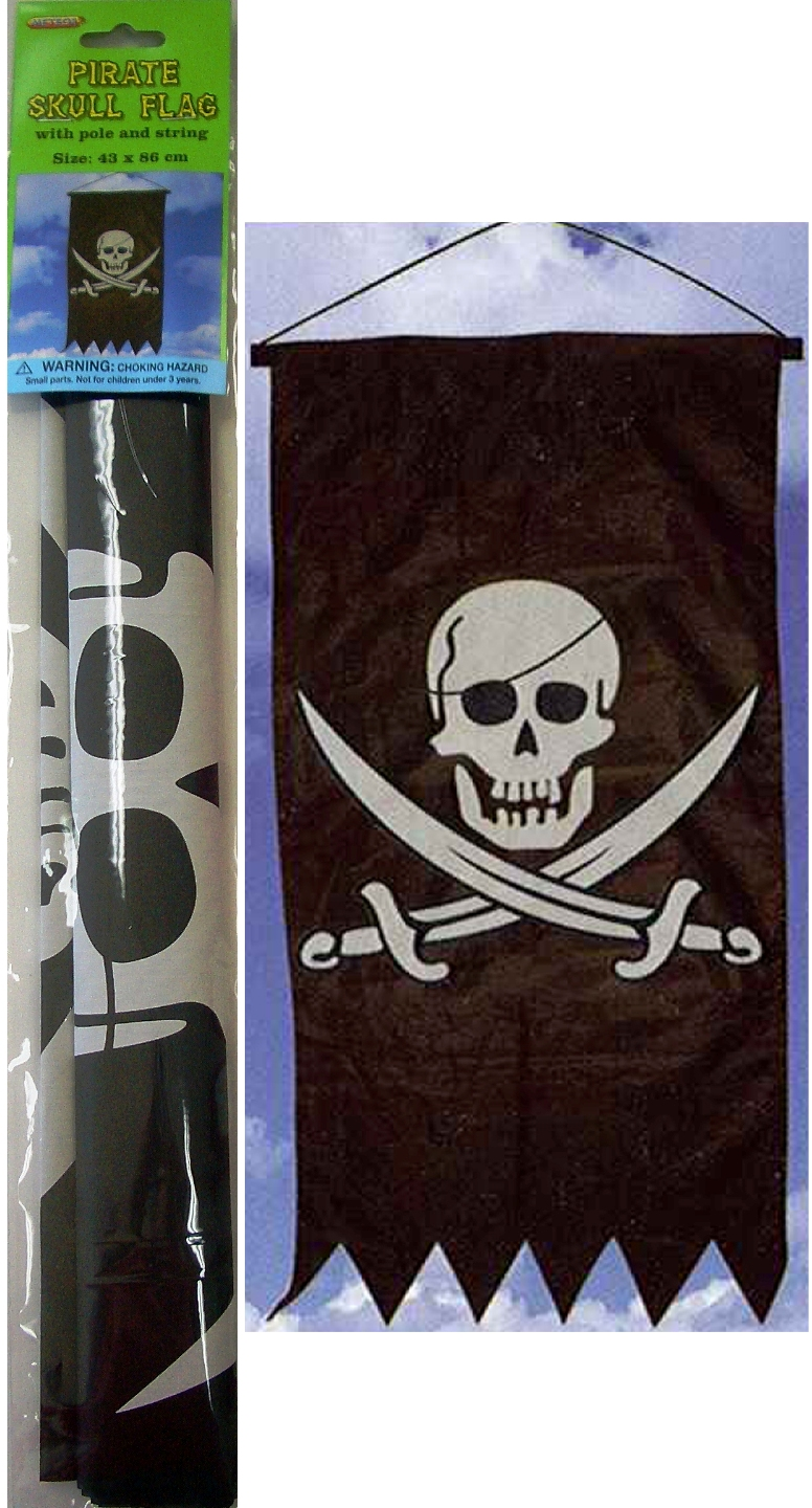 GIANT PIRATE FLAG HANGING BANNER