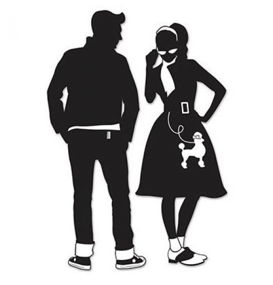 1950'S ROCK N ROLL COUPLE SILHOUETTES - PACK OF 2