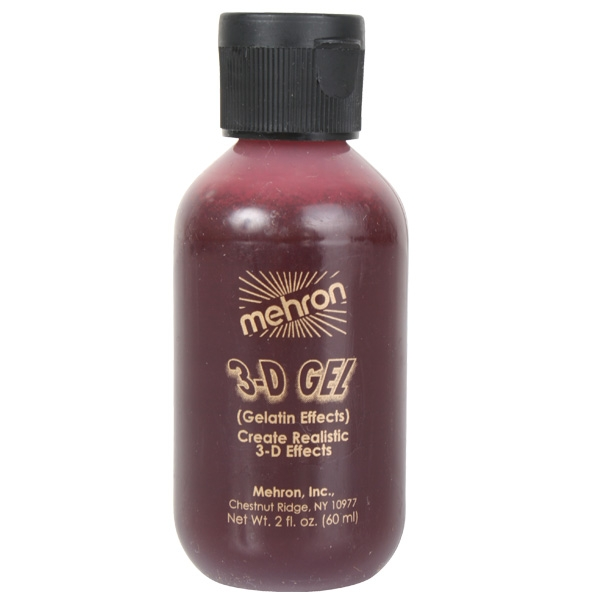 MEHRON 3D BLOOD RED GEL 60ML SQUEEZE BOTTLE