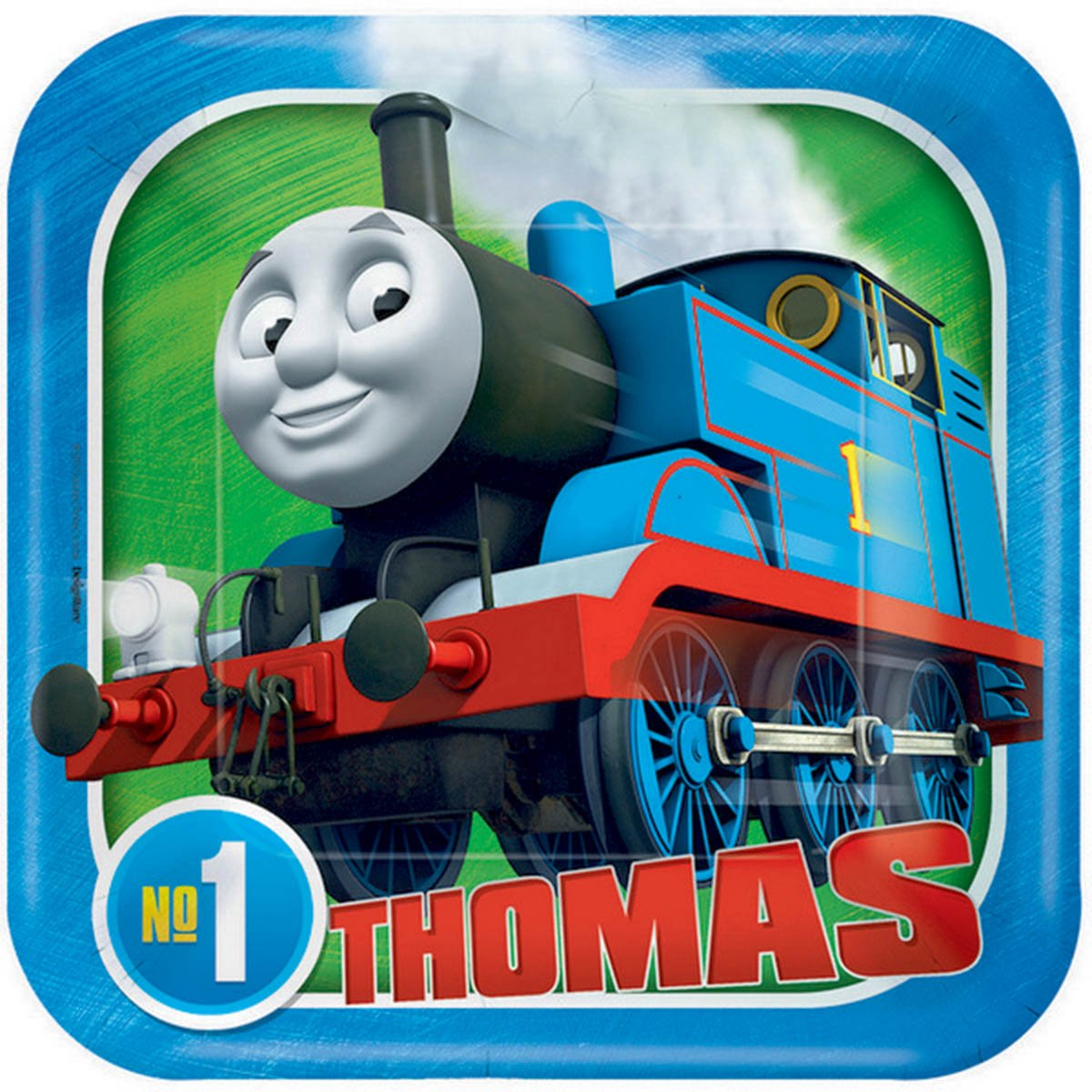 THOMAS THE TANK SQUARE 17CM PLATES PACK 8