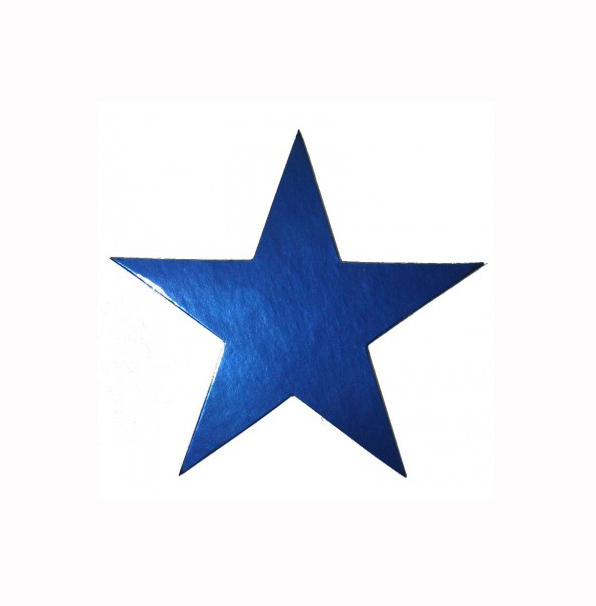 STARS - NAVY BLUE FOIL 10CM - PACK 20