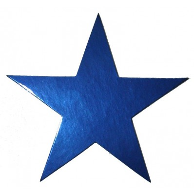 STARS - NAVY BLUE FOIL 20CM - PACK OF 20