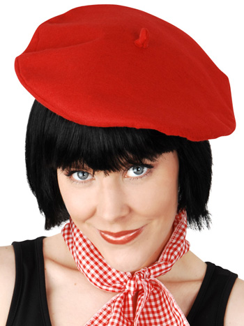 FRENCH BERET IN BLACK OR RED