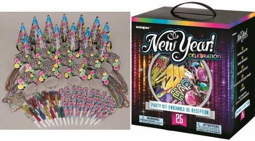 NEW YEARS EVE CELEBRATE PARTY KIT FOR 25