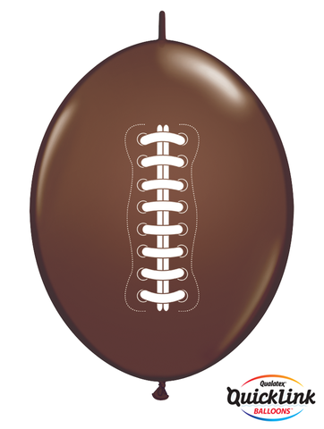 BALLOONS LATEX - QUICK LINK CHOCOLATE BROWN FOOTBALL PACK 50