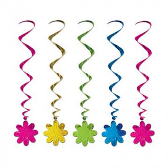 HANGING FLOWER WHIRLS PACK 5
