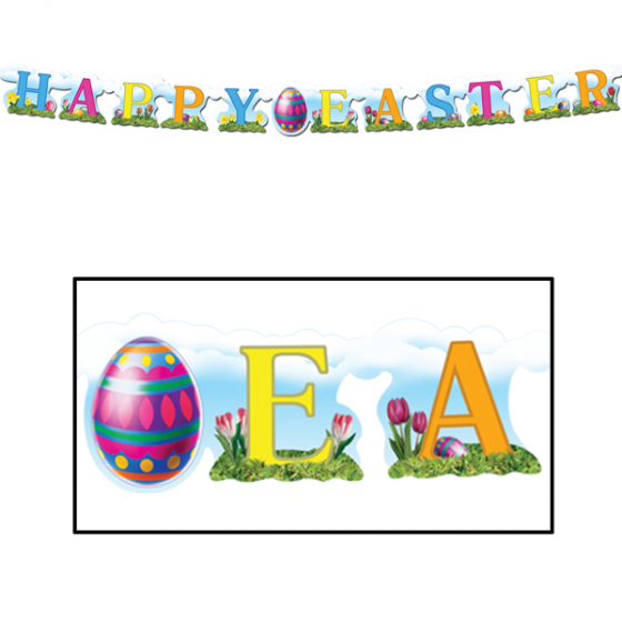 HAPPY EASTER BANNER STREAMER WITH EASTER EGG
