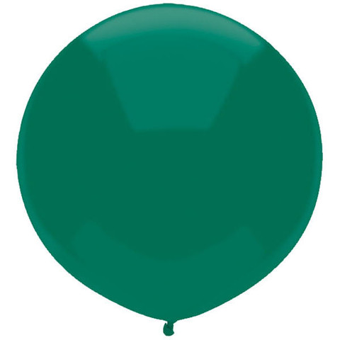 "ROYAL FOREST GREEN 17"" CAR YARD BALLOONS PACK OF 50"