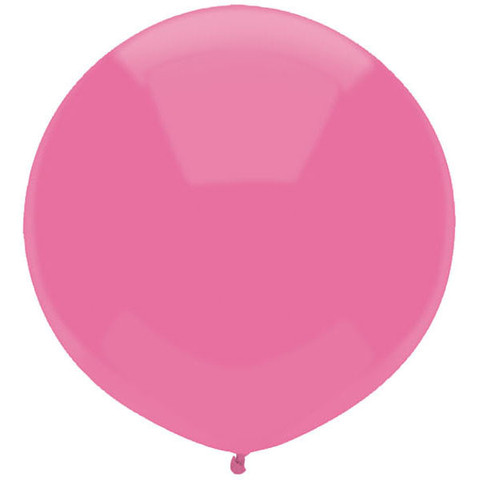 "FUN COLOURS PASSION PINK 17"" ROUND CAR YARD BALLOONS PACK OF 50"