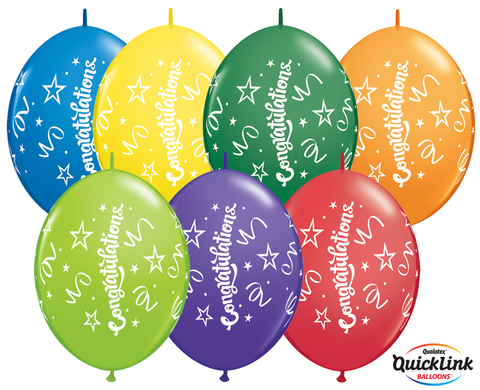 BALLOONS LATEX - QUICK LINK CONGRATULATIONS MULTIS PACK 50