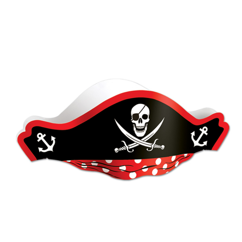 PIRATE PARTY HAT CHILD'S SKULL DESIGN
