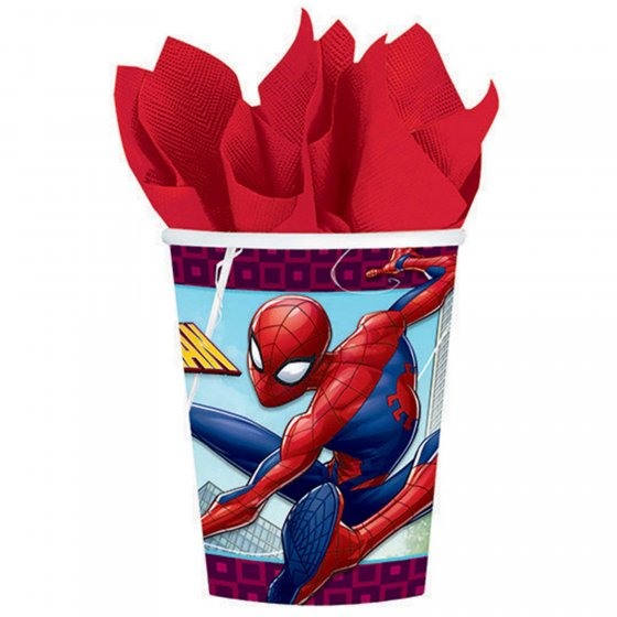 SPIDERMAN CUPS - PACK OF 8