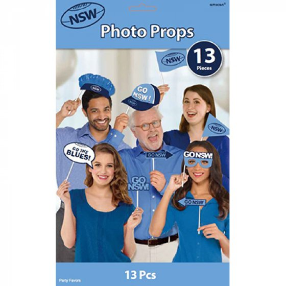 SELFIE PHOTO BOOTH PROPS - NSW ORIGIN PACK OF 13