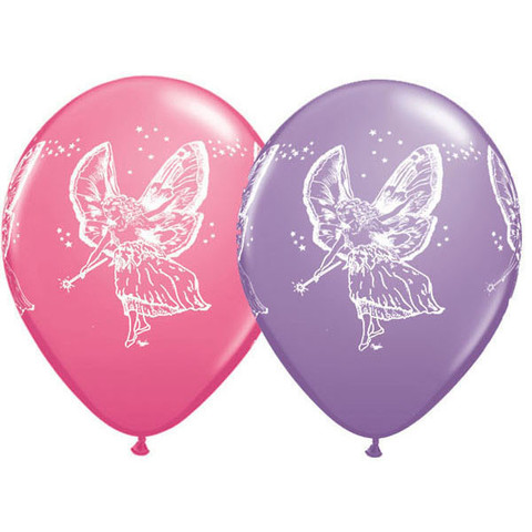 BALLOONS LATEX - FAIRY PINK & LILAC PACK 6