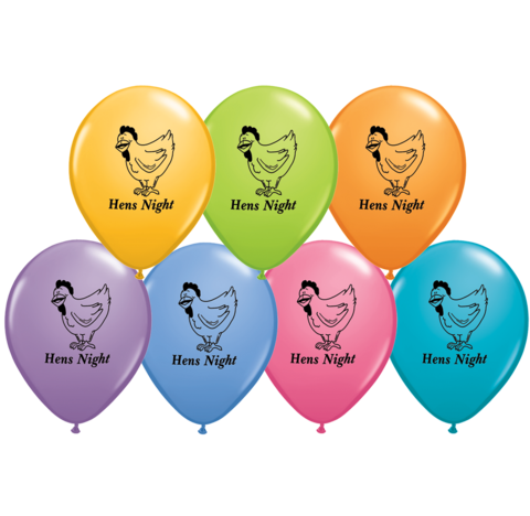BALLOONS LATEX - HEN'S NIGHT PACK OF 6