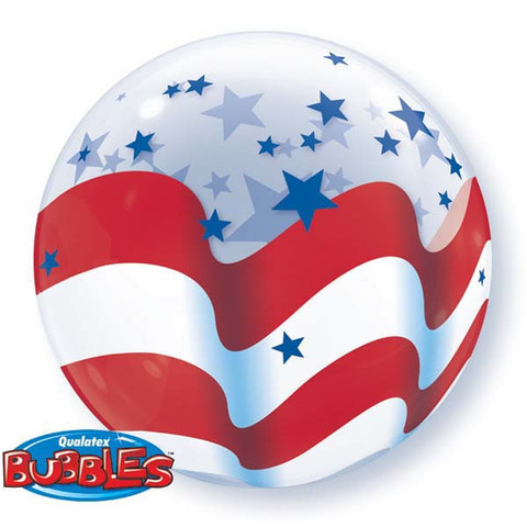 bubble balloon - patriotic stars