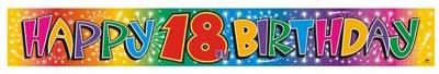 FOIL BANNER 18TH BIRTHDAY