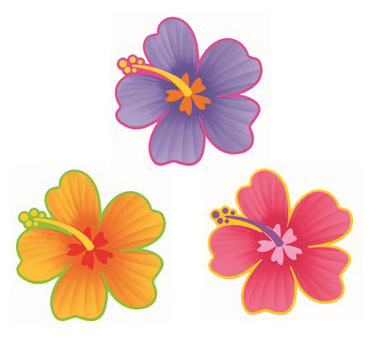 HIBISCUS FLOWER CUT OUTS LARGE