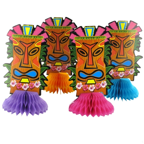 HONEYCOMB MINI TOTEMS TABLE CENTREPIECES - PACK 4