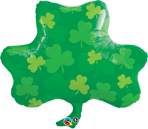 FOIL SUPER SHAPE BALLOON - SHAMROCK SHAPED & PRINTED