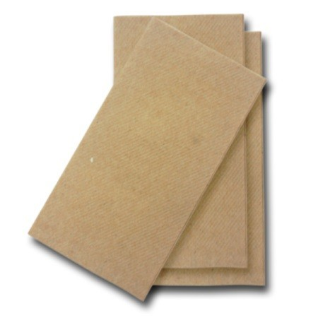 NATURAL KRAFT ECO PAPER GT FOLD DINNER NAPKINS - PACK OF 100